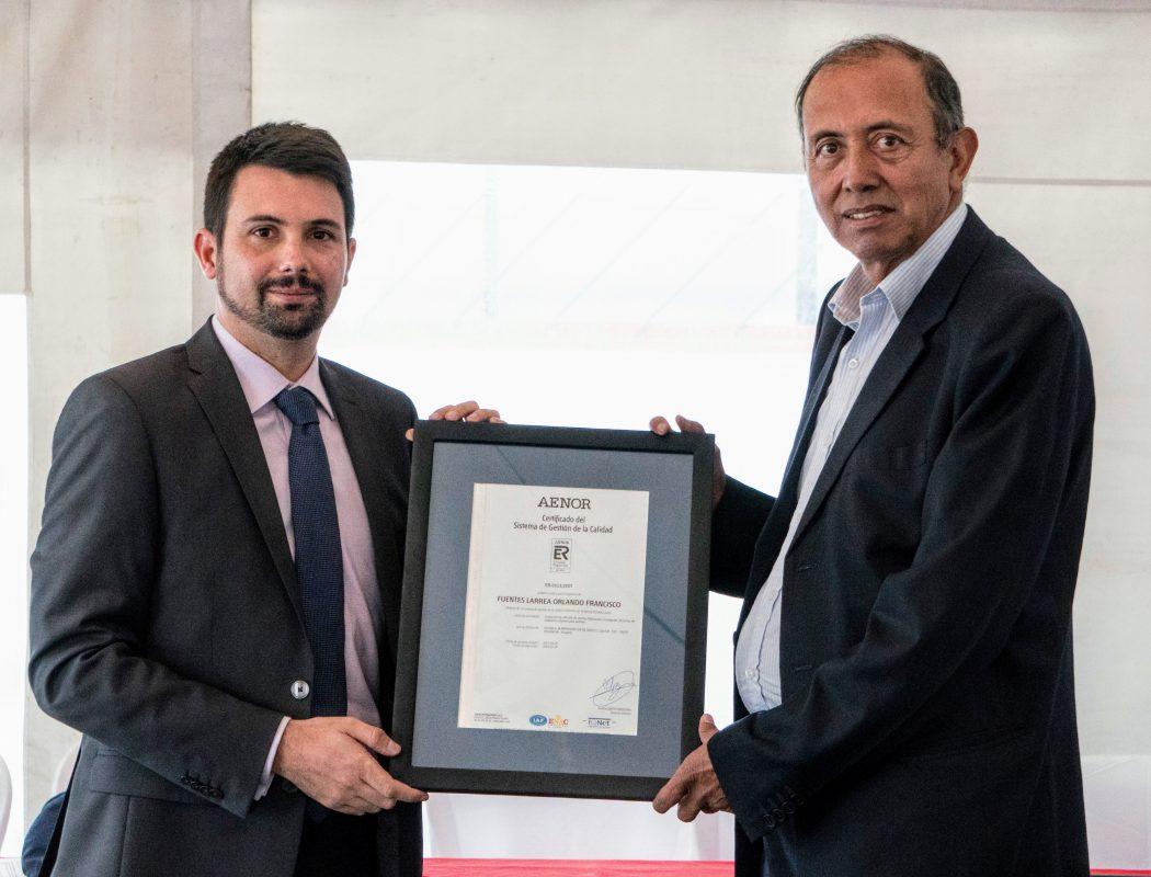 Entrega Certificado ISO 2015