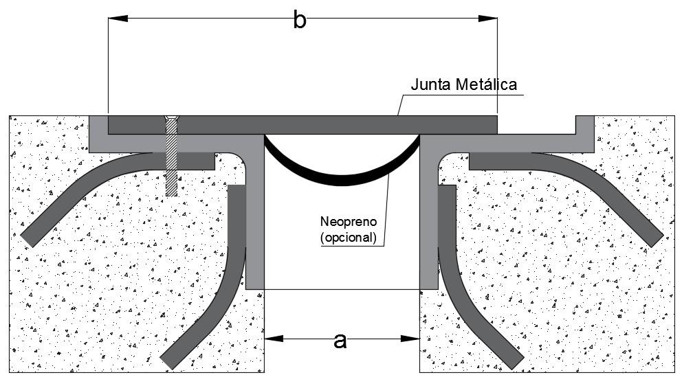 junta arquitectonica peatonal